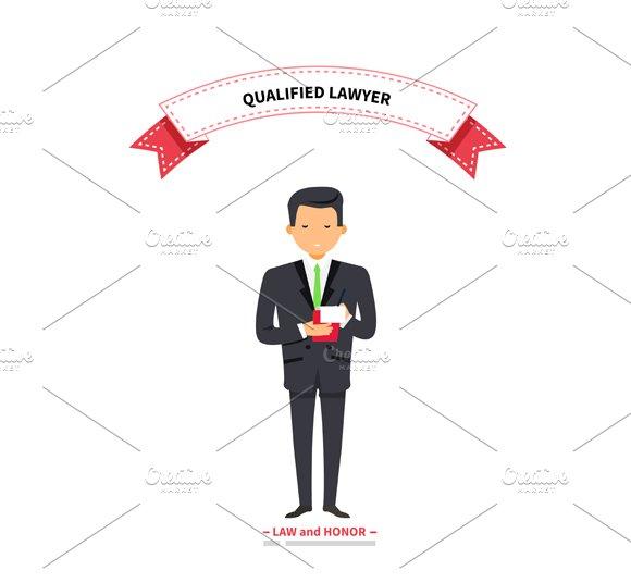 Qualified Lawyer Man