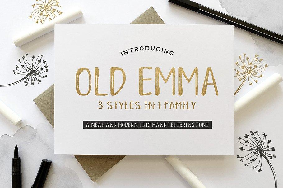 Old Emma Script ~ Script Fonts ~ Creative Market