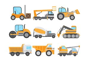 Machines for Construction Work Set