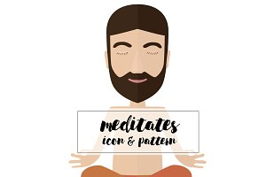 meditates  icon & pattern