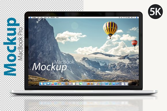 Download MacBook Pro Front Mockup