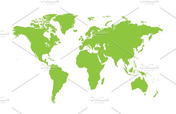 World map flat green web elements creative market gumiabroncs Image collections