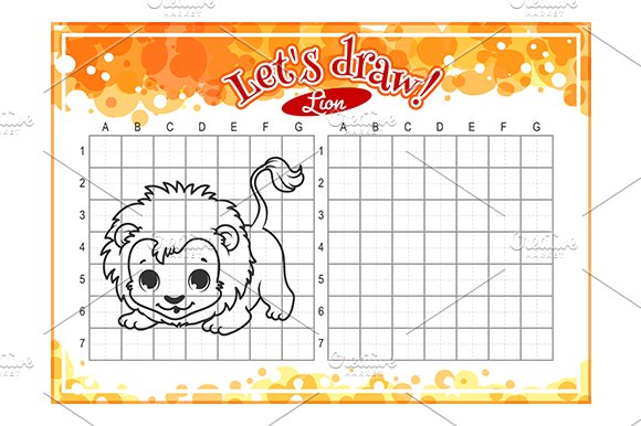 how to draw cute cartoon lion illustrations