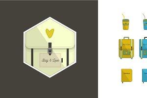 Hipster set + Logo.