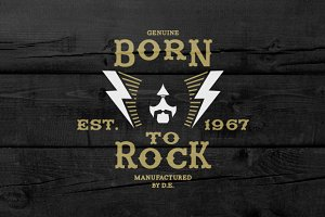 Vintage Label Born To Rock