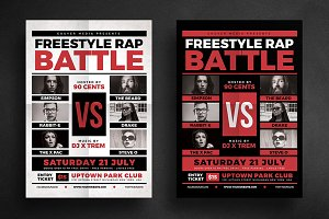 Rap Battle Music Flyer