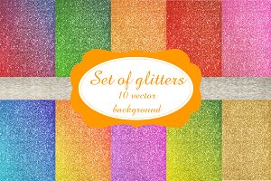 Set of vector glitters + bonus