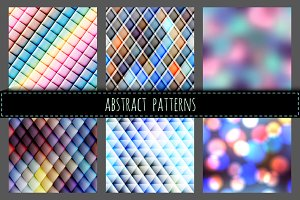 Seamless abstract patterns.
