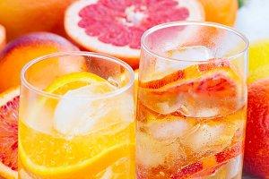 Summer citrus drinks