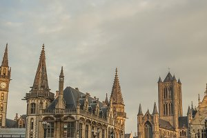 View on Medieval Ghent