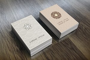 Business Card In Ethnic Style.