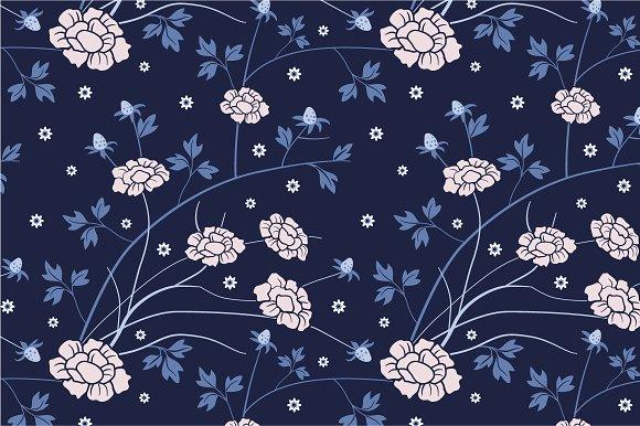 Seamless flowers pattern in Patterns