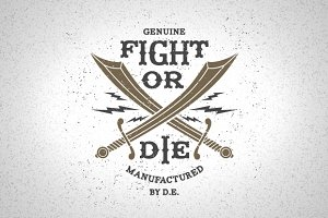 Vintage Label Fight Or Die