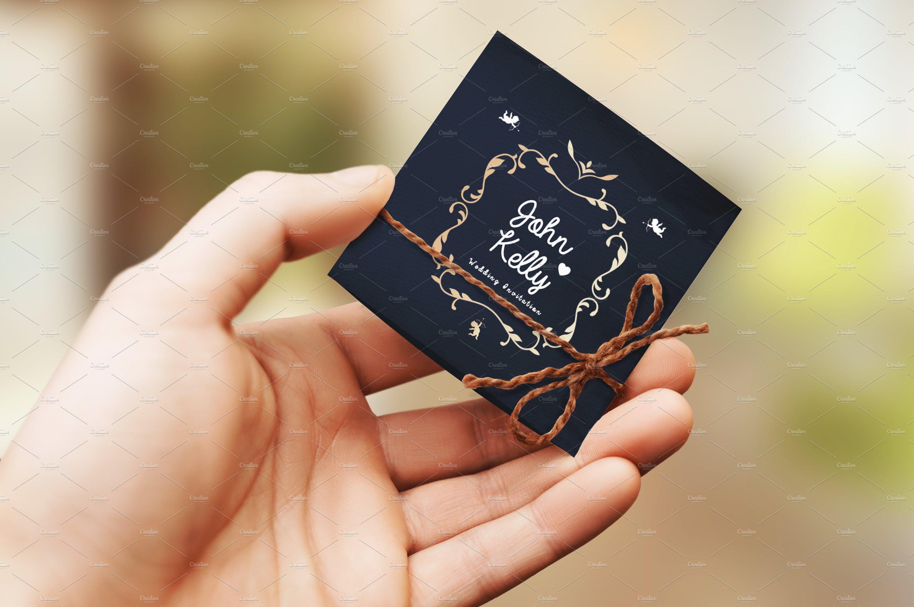 Mini Wedding Invitation Card  Creative Photoshop Templates