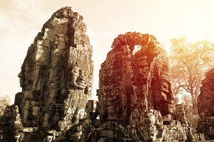 Ancient Angkor Thom castle