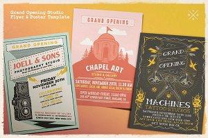 Grand Opening Studio Flyer & Poster