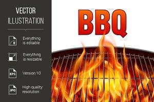 BBQ grill fire