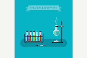 Chemical laboratory banner