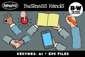 Business Hands Set