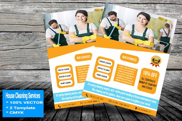 house cleaning services flyer v 01 flyers