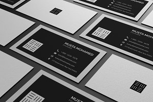 3 Clean Minimal Business Cards