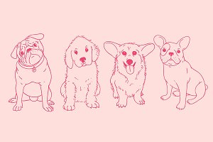 Puppies illustration