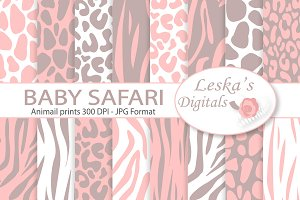 Animal Prints - Baby Pink Safari