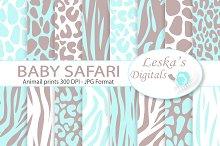 Animal Prints - Baby Blue Safari