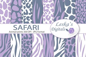 Animal Prints - Safari Digital Paper