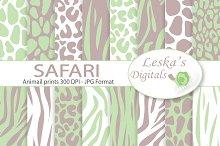 Safari Digital Paper - Animal prints