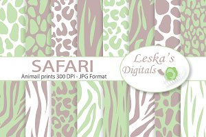Safari Digital Paper - Animal prints