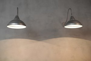 light and shadow on the wall lamp