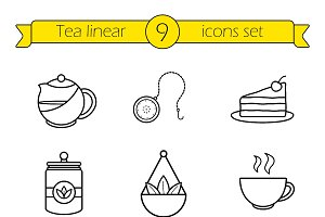Tea accessories. Vector