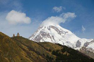 Kazbek peak mountains