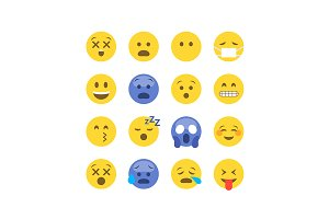 Emoticon emoji set