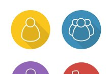 Online conference icons. Vector