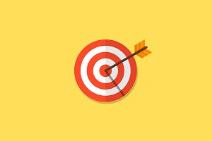 Vector target and arrow icon