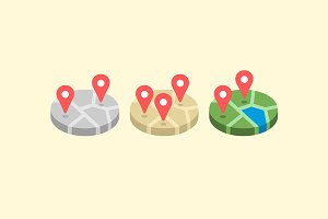 Location map icon set