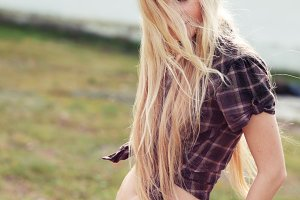 long-haired blonde