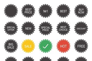Shopping sale tags. Vector