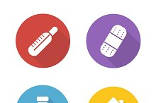Medical treatment icons. Vector