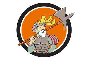 Spanish Conquistador Ax Sword Circle