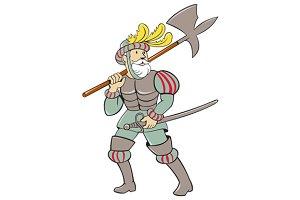 Spanish Conquistador Ax Sword