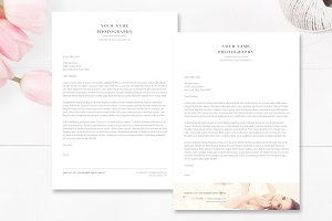 A4 Photographer Letterhead Template