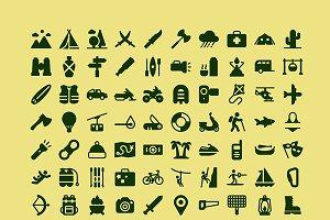 100 Adventure icons