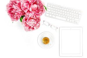 Flat lay for social media blogger