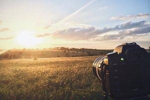DSLR Shooting a Sunset