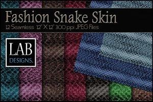 12 Fashion Snake Skin Textures