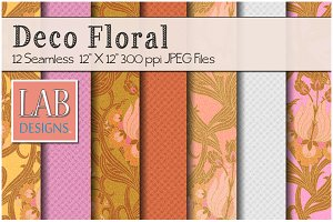 12 Deco Floral Fabric Textures