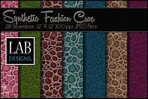 28 Fashion Croc Skin Textures